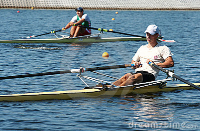 The finals in rowing. Editorial Stock Photo