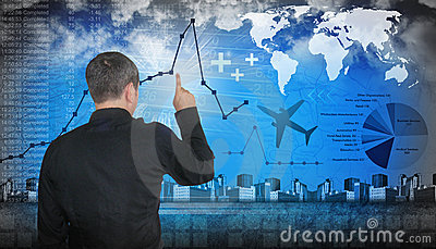 Finanace Travel Business Man Pointing