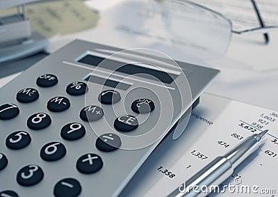 Financal data concept