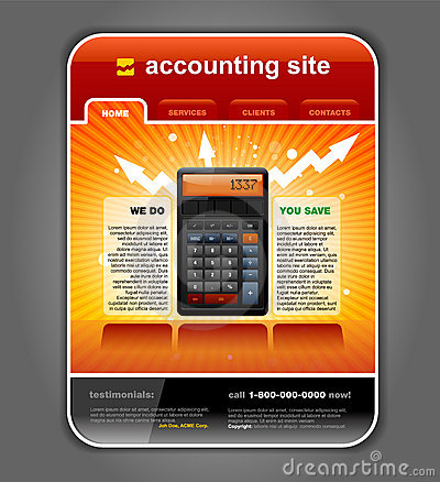 Finance Accounting Web Site Template vector