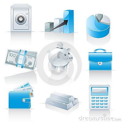 Free Finance And Banking Icons Stock Photography - 21125892