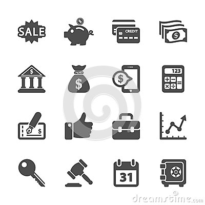 Free Finance And Business Icon Set, Vector Eps10 Stock Images - 45724174