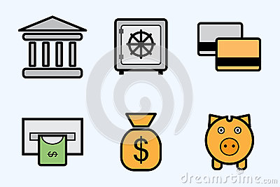 Finance and bank icons