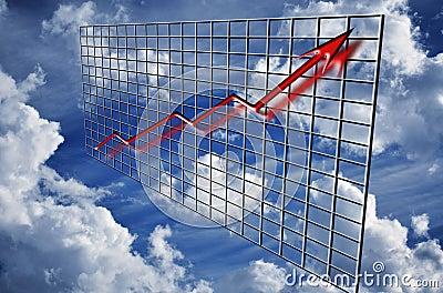 Finance graph arrow up