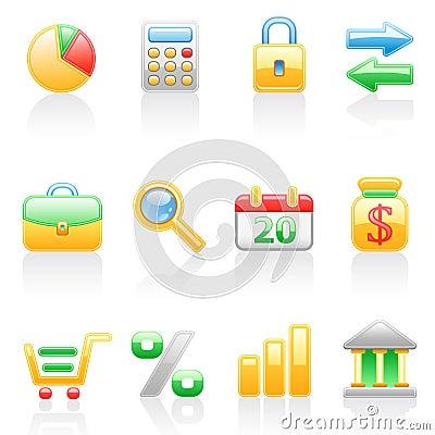 Finance icon set.