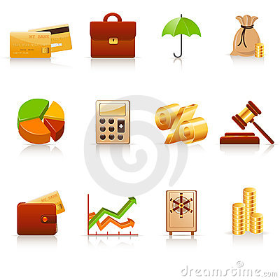 Free Finance Icons Stock Photos - 12693233
