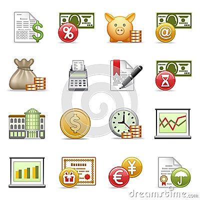 Finance icons.