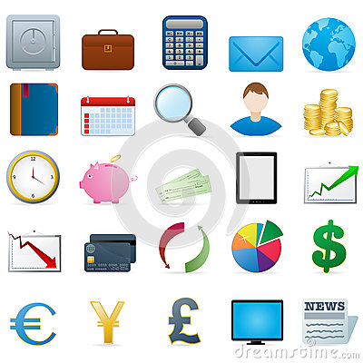 Free Finance Icons Stock Photography - 26677002