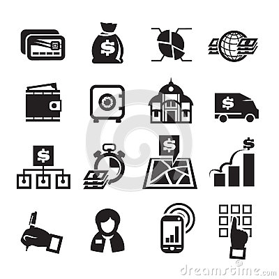 Finance Icons. Vector illustration