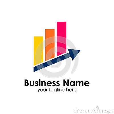 Free Finance Logo Template. Accounting Logo Template. Charts Icon Royalty Free Stock Photo - 131065065