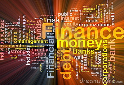 Finance money concept diagram glowing