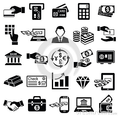 Free Finance Money Icon Set, Royalty Free Stock Image - 42154116