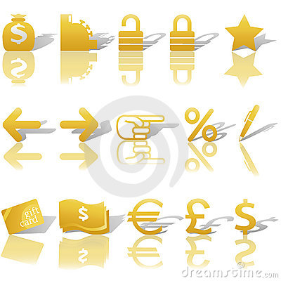 Finance Money Website Navigation Icons Set
