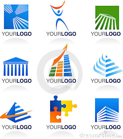 Finance and real estate logos and icons