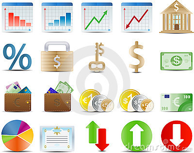 Finance stock and economy icon