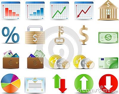 Finance stock and economy icon