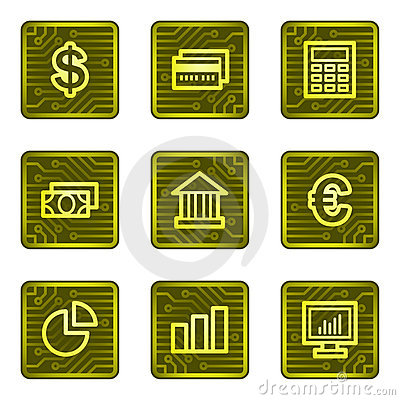 Finance web icons, electronics card series
