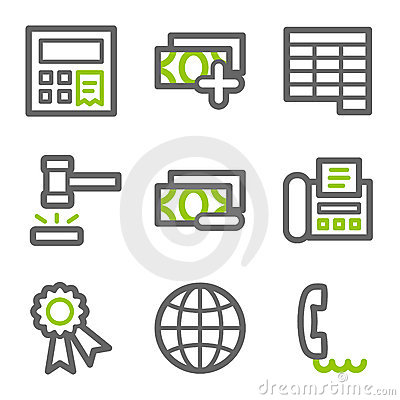 Finance web icons set 2
