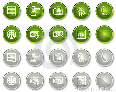 Finance web icons set 2, circle buttons series