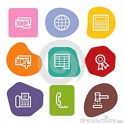 Finance web icons set 2, colour spots series