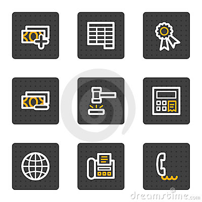 Finance web icons set 2, grey buttons series