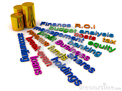 Finance words collage