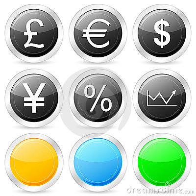 Finances circle icon set