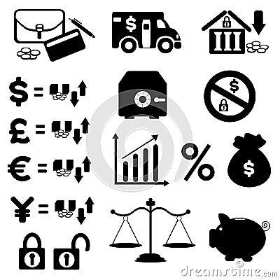 Finances Icon Set