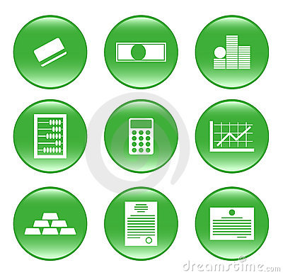 Finances - vector web icons (buttons)