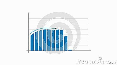 Financiële grafiekgrafiek, videoanimatie stock footage