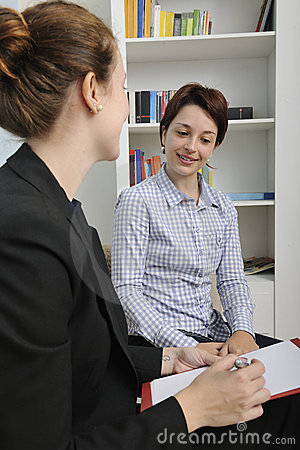 Financial advisor or consultant with client