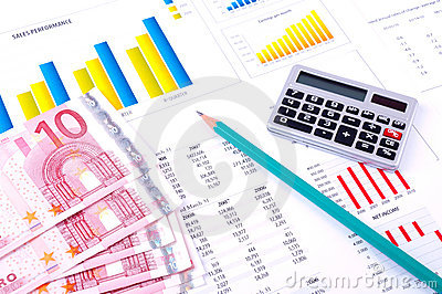 Financial Analysis with charts and money