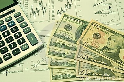 Financial Charts And US Dollar #2 Royalty Free Stock Photo - Image: 1632425