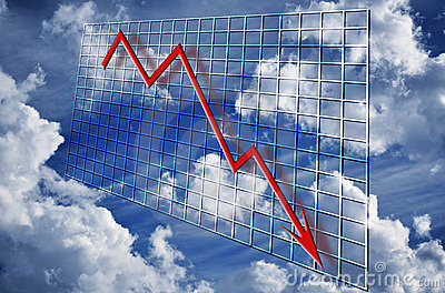 Financial crisis graph decline