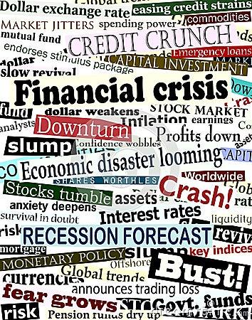 Free Financial Crisis Headlines Royalty Free Stock Photo - 6838385
