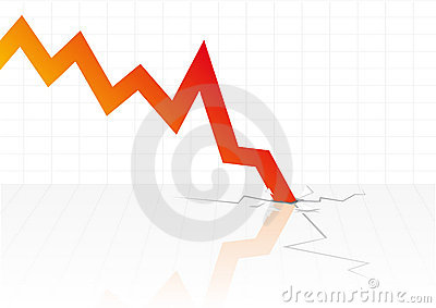 Financial crisis vector