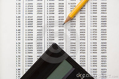 Financial data for calculations
