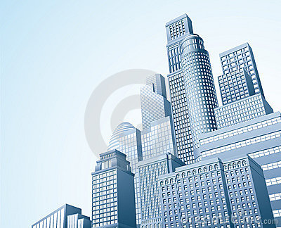 Financial distrait urban city scape