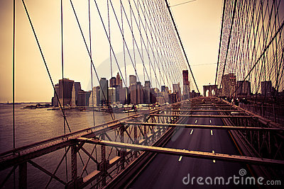 Financial District from the Brooklyn bridge