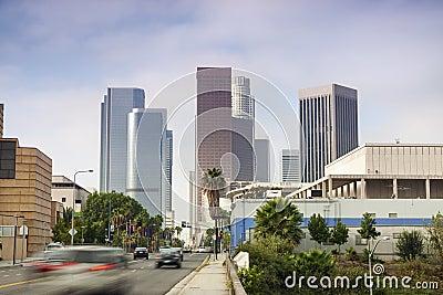 Financial District in Los Angeles, CA