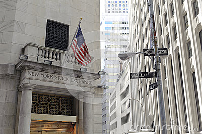 Financial district, new york city Editorial Image