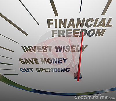 Financial Freedom Speedometer Invesment Savings Money