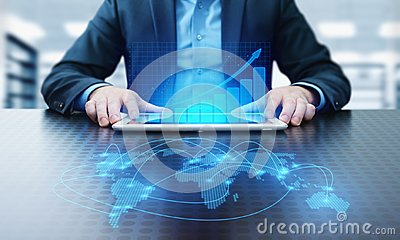 Financial Graph. Stock Market chart. Forex Investment Business Internet Technology concept Stock Photo