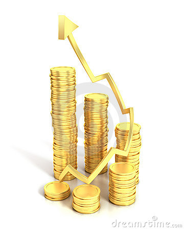 Financial growth 3d concept