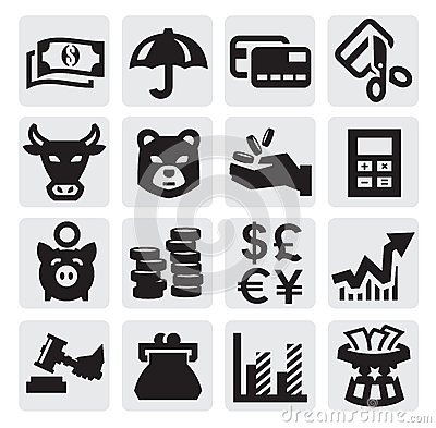 Free Financial Icons Royalty Free Stock Photography - 26923677