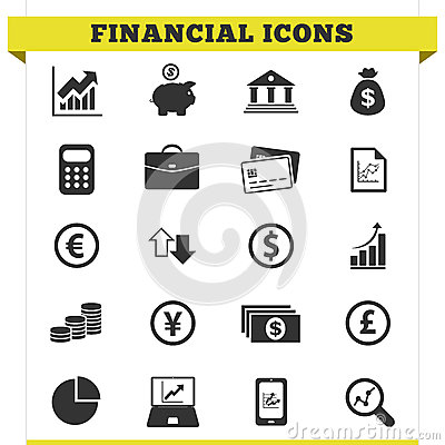 Free Financial Icons Vector Set Royalty Free Stock Image - 30894496