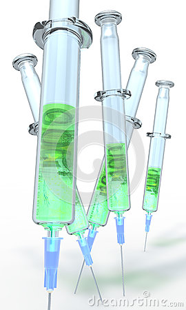 Financial injection syringe