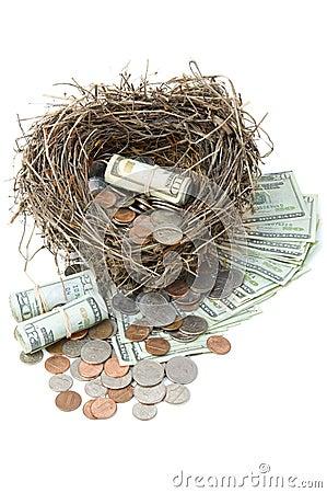 Financial Nest Egg Overflowing