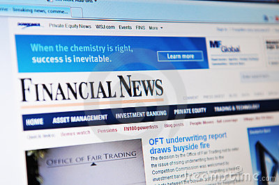 Financial news Editorial Photography