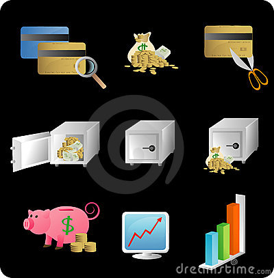 Free Financial Objects/icons Royalty Free Stock Images - 4348799